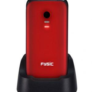Mobiele klaptelefoon (rood)